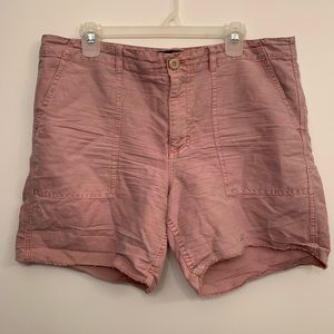 J.Crew mauve zipper denim shorts
